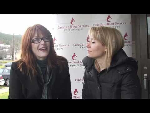 Lynda Boyd and Krystin Pellerin Thank Blood Donors