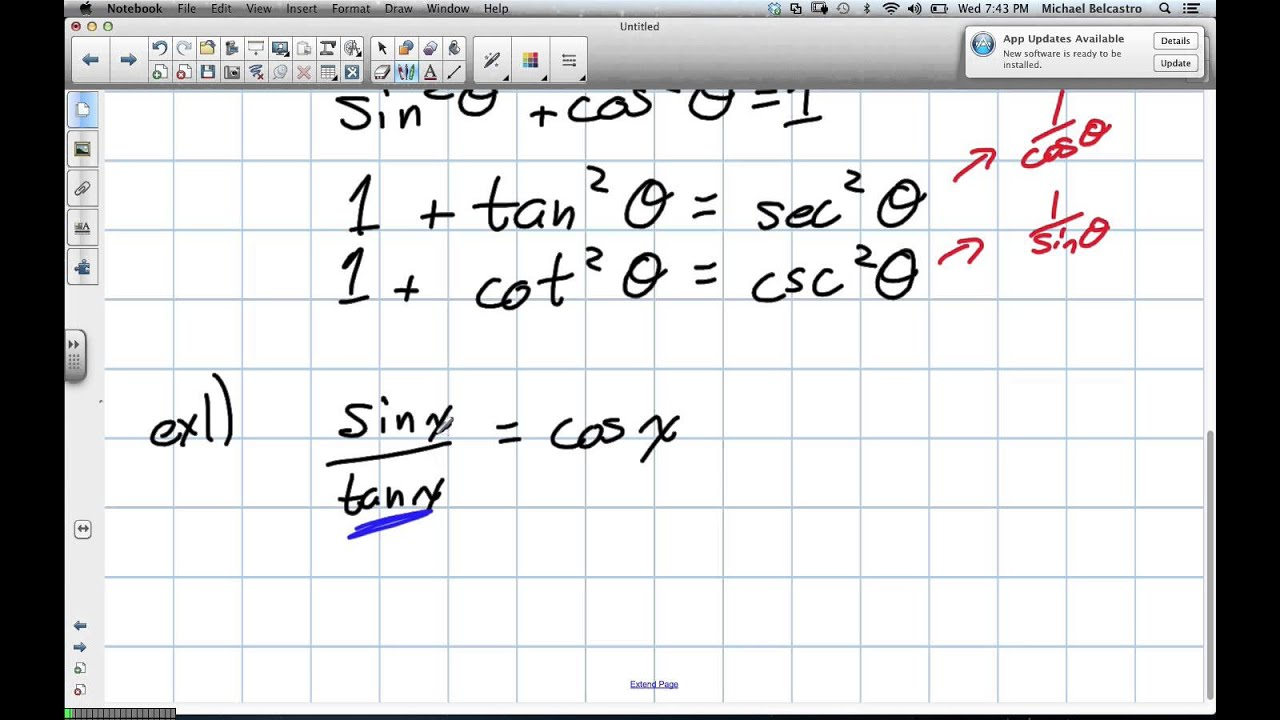 Trig Identities Grade 11 Univeristy Lesson 5 5 11 28 12 Youtube