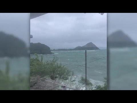 First-look: Hurricane Maria bears down on St. Lucia