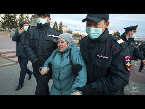 Nearly 1,800 detained at protests in Russia