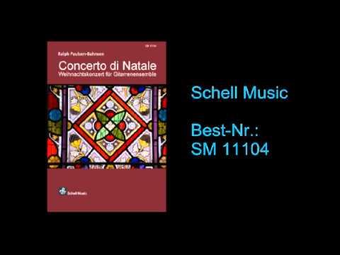 Concerto di Natale  Gitarrenquartett  Noten  Schell Music  Paulsen  Bahnsen