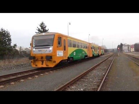 Samovratné výhybky ve stanici Drahanovice   odjezd MJ Regionova 814.247/248