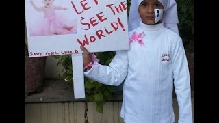 School fancy dress competition ideas | Save girl child dress