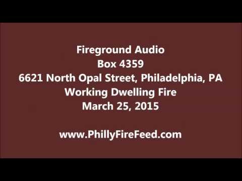 3-25-15, 6621 N Opal St, Philadelphia, House Fire