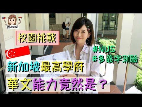 [🇸🇬日記]打破流言!新加坡年輕人的華文都很爛?Ft.🇸🇬國大NUS