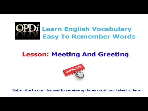 1. Meeting and greeting | Oxford picture dictionary 2nd edition | Learn english vocabulary