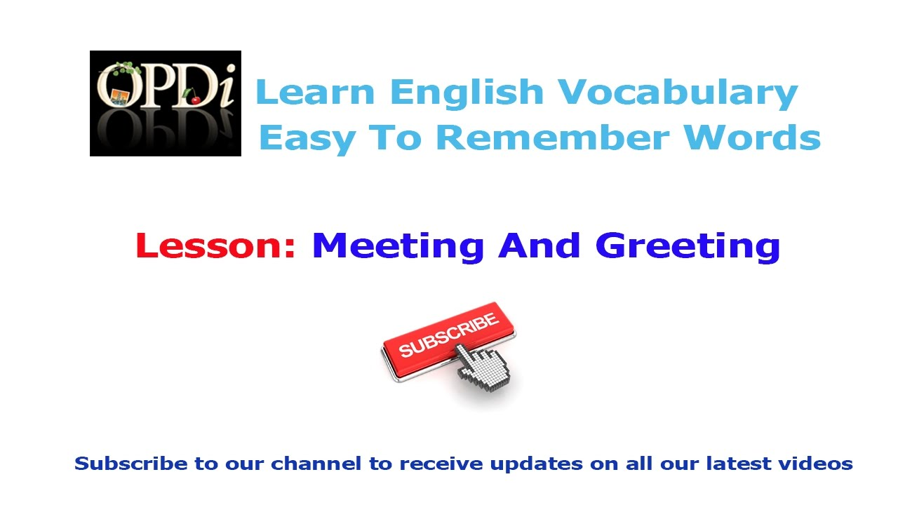 1 meeting and greeting oxford picture dictionary 2nd edition meeting and greeting oxford picture dictionary 2nd edition learn english vocabulary kristyandbryce Images