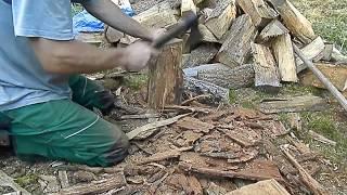 Cordwood sauna (cordwood tutorial of how to prepare your wood)