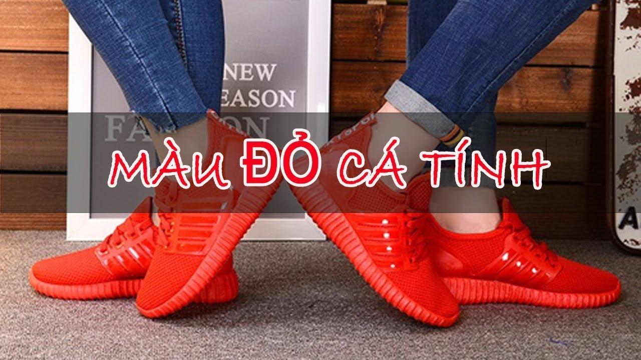 Giày thể thao nữ màu đỏ đẹp | Cực kỳ cá tính với phong cách giày đỏ | Giày thể thao nữ