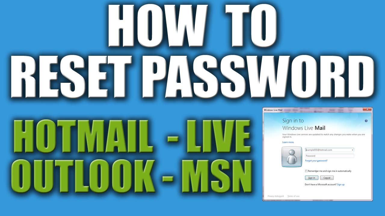 what if we forgot microsoft account password