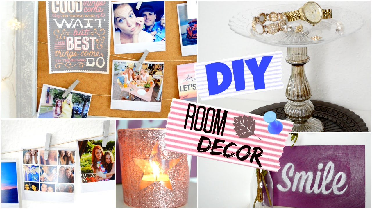 DIY ROOM DECORATION! Cute + Affordable mit JuliaBeautx - YouTube
