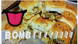 HAWAIIAN CHEESEBURGER SLIDERS!!!!! QUICK AND EASY MEAL!!!!!!!! DELICIOUS MUST WATCH!!!!