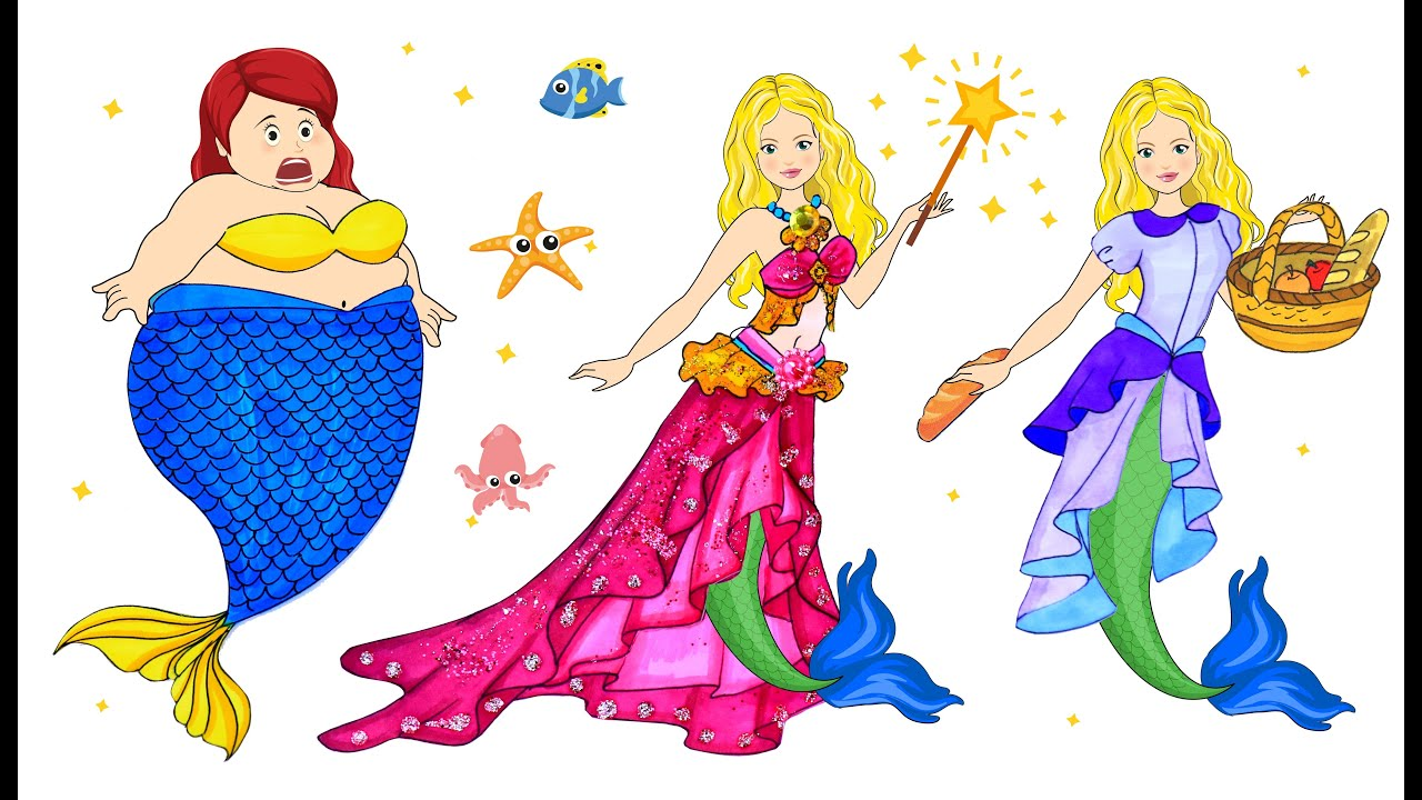 [DIY] Paper Dolls Mermaid Help Old Women & The Happy Result! The Most Beautiful Handmade Papercrafts