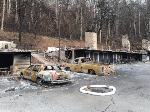 Gatlinburg After the Fire - Massive Wildfire Devastates Town