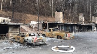 gatlinburg after the fire massive wildfire devastates town