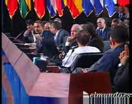 "King Juan Carlos of Spain tells Hugo Chavez to ""shut up"""