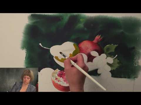 Elena Bazanova's watercolour masterclass. Lesson 4