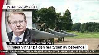 Försvarministern oroad efter militärflygsincident - Nyheterna (TV4)
