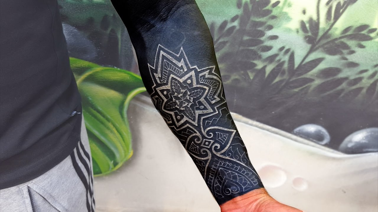 Insane Black Sleeve With White Ink Youtube