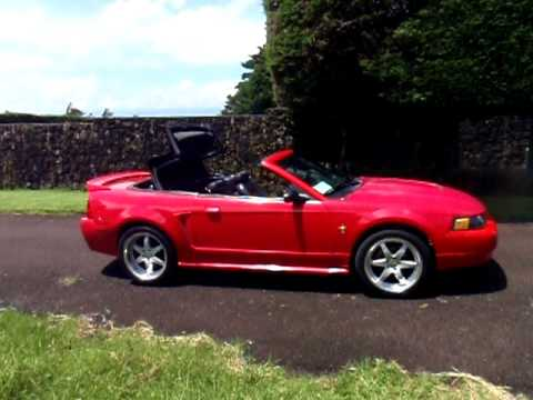 2002 Mustang 3 8 V6 Convertible Top In Motion