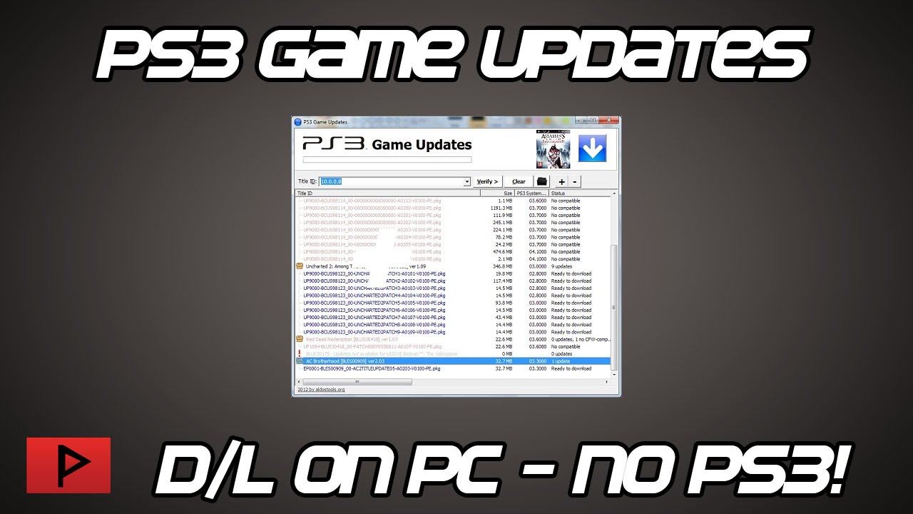 [How To] Download PS3 Games Updates Manually On PC Tutorial (For CFW PS3)