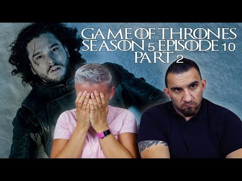 Game Of Thrones Season 5 Episode 10 'Mother's Mercy' Part 2 REACTION!!