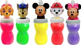 Learn with Paw Patrol Mickey Mouse Slime Surprise Toys Colours | Fizzy Fun Toys
