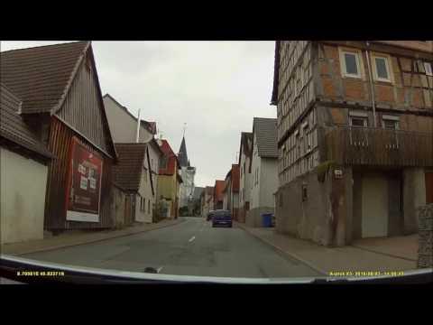 Ortsdurchfahrt Im Odenwald/DA: Nieder-Ramstadt (SW Rein, NO Raus)