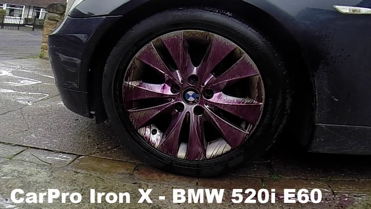 carpro iron x wheel cleaner test detailing on e60 520i bmw. Black Bedroom Furniture Sets. Home Design Ideas