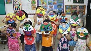 Vẽ mặt nạ trung thu - Mid autumn festival masks