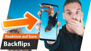Reaktion auf EURE BACKFLIPS + Gewinner - Der beste Backflip   Andiletics