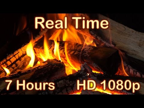 ✰ 7 HOURS ✰ Fireplace Burning ✰ REAL TIME ✰ Fireplace Sounds ♫ Relaxing Fire HD 1080p ✰ Fire Sound ✰