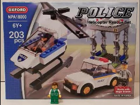 Construction Toy Dude: Review #4 Oxford Police Helicopter Rescue Set