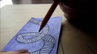 как нарисовать дудл узор в полосе. Как нарисовать АТС карточку.Часть 2