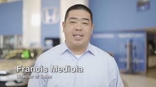Francis Mediola - Director of Sales at Honda of Chantilly Manassas Chantilly DC