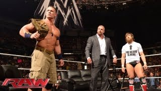 WWE Champion John Cena and Daniel Bryan almost come to blows on jus...