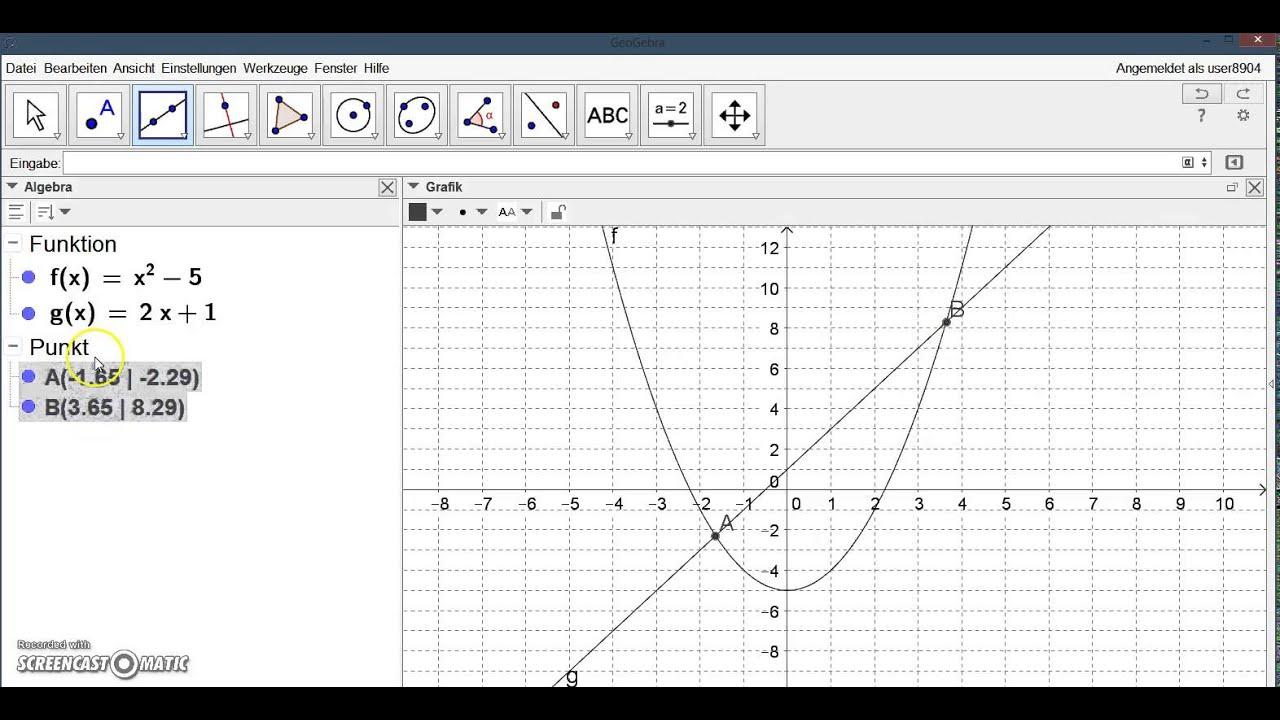 Schnittpunkte Von Funktionen Berechnen : geogebra schnittpunkte von funktionen berechnen youtube ~ Themetempest.com Abrechnung