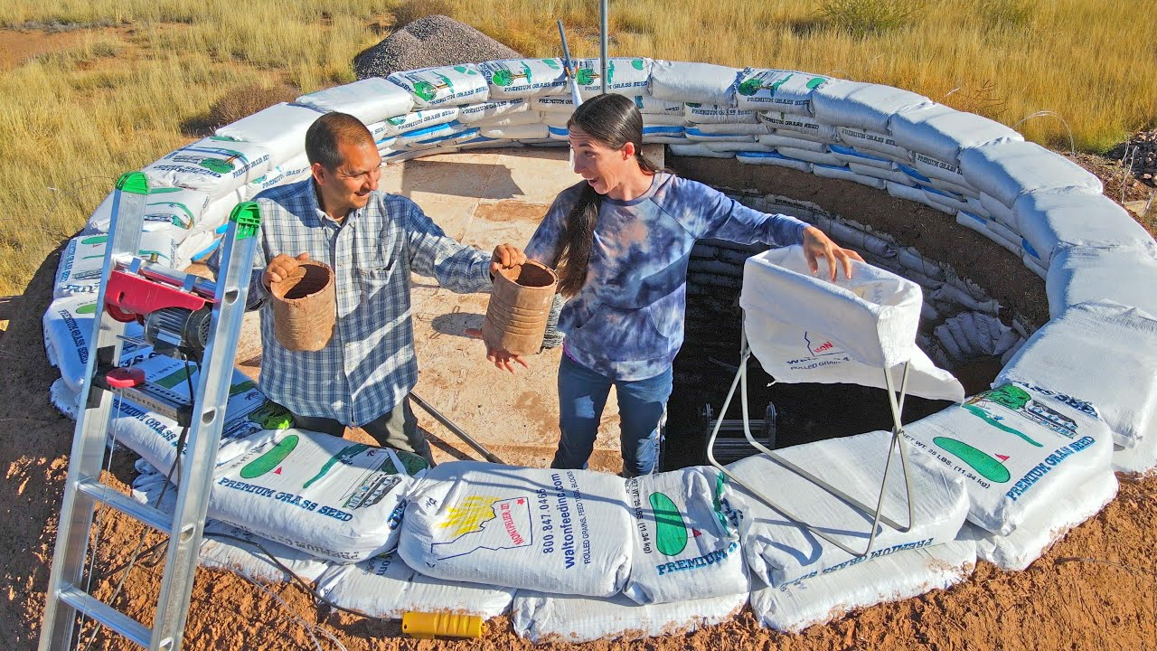 Download Pushing Through and Building Up On Our Earthbag Dome