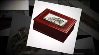 Francesca Cherry Finish Family Photo Jewelry Box