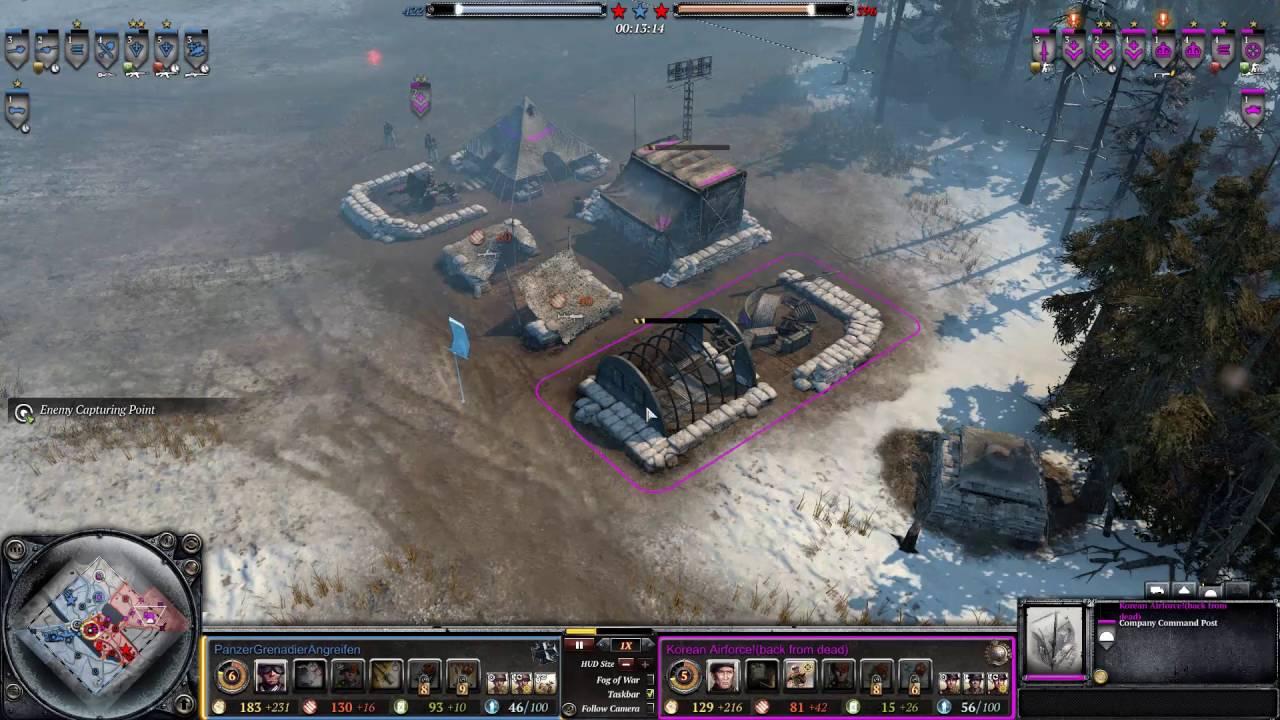 Company of Heroes 2 #30 - Panzer Grenadier Angreifen (OKW) vs Korean  Airforce (Brit)