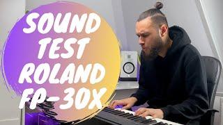 Roland Digital Piano FP-30X | RAW SOUND TEST | Joël Booi