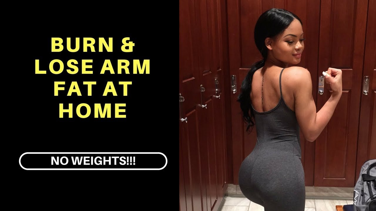BURN & LOSE ARM FAT FAST AT HOME!! - YouTube