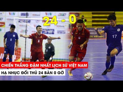 Việt Nam hạ nhục đối thủ 24 bàn không gỡ   Khán Đài Online