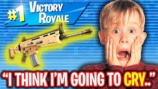 KID IS SPEECHLESS AFTER I GIVE HIM GOLD SCAR ON FORTNITE! (EMOTIONAL)