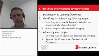 Advocacy and Campaigns webinar - Session 5: Identifying and influencing advocacy targets