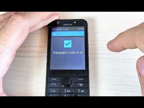 Nokia 230 - How to ENABLE/ DISABLE Screen Security Code