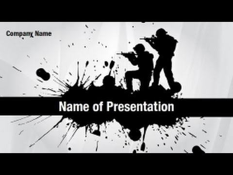 Military Sign PowerPoint Video Template Backgrounds - DigitalOfficePro #01280V