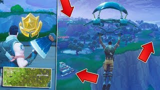 "FORTNITE ""WEEK 4 TREASURE"" Emplacement! - Battle Pass Challenge ( Fortnite Bataille Royale"