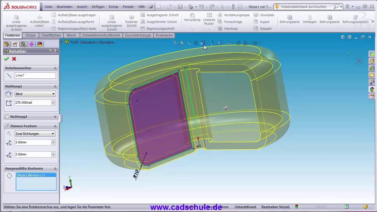 Solidworks Grundlagen Aufsatz Basis Rotiert Practice Design For