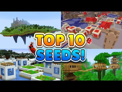 TOP 10 BEST SEEDS for Minecraft! (Pocket Edition, Xbox